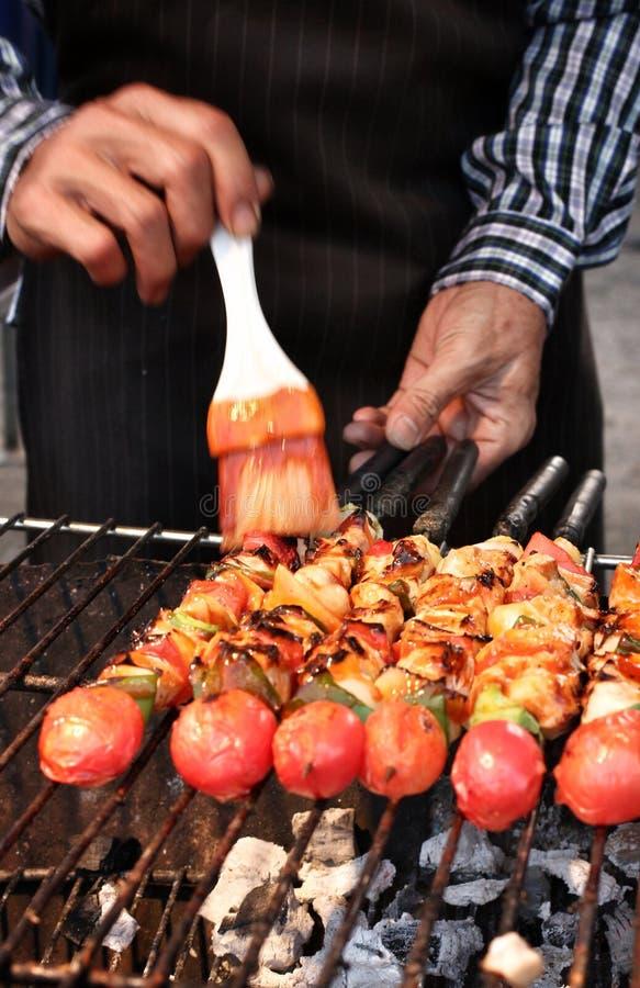 Gril de BBQ de viande photographie stock libre de droits