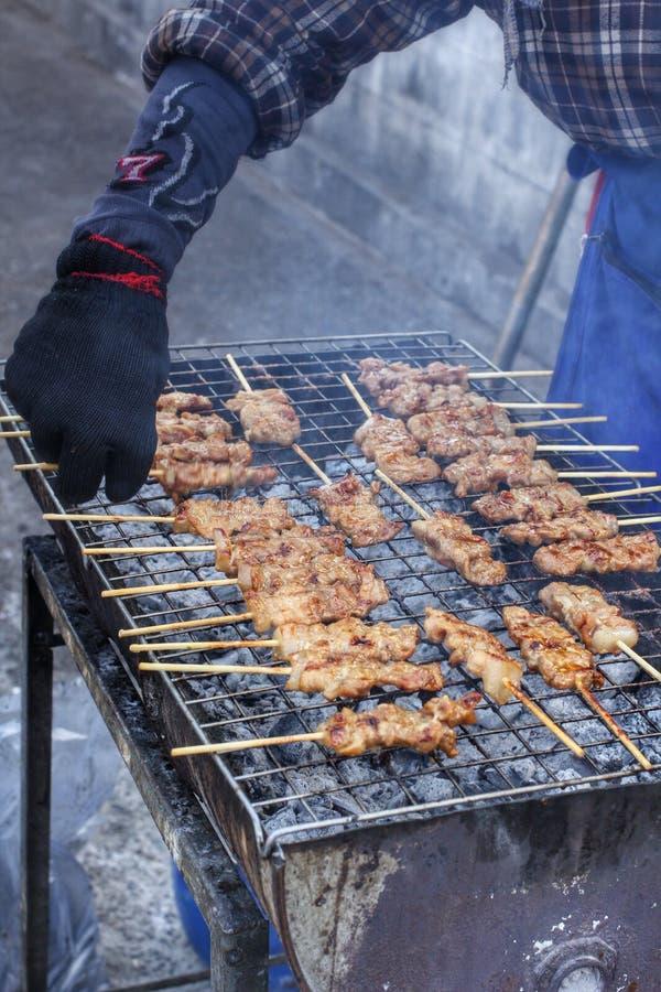 Gril de BBQ de viande photos libres de droits
