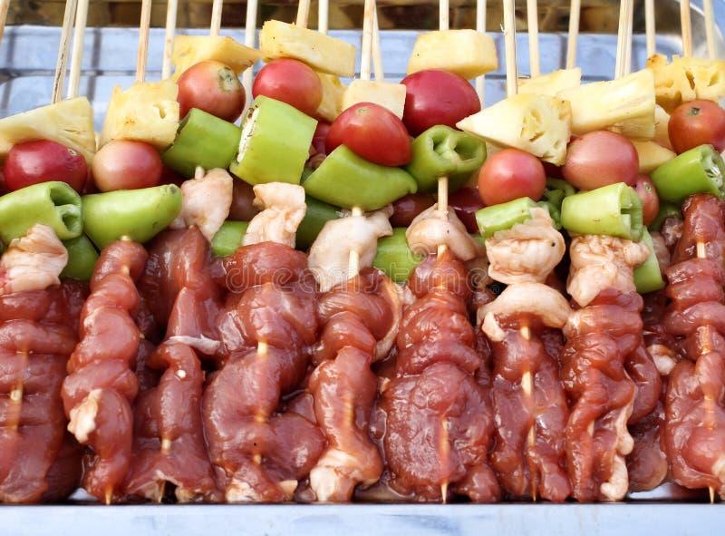 Gril de BBQ de viande photographie stock