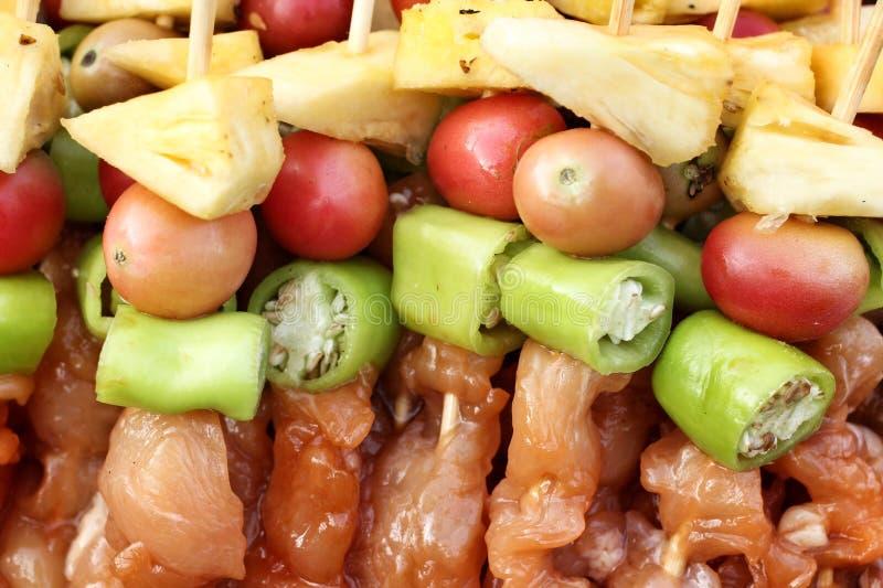 Gril de BBQ de viande images libres de droits