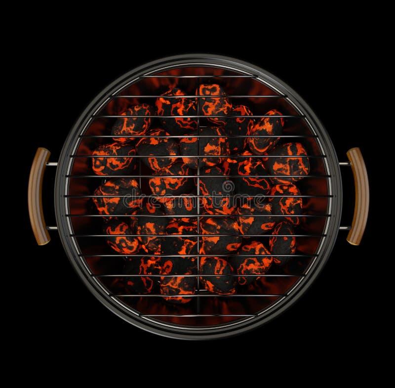 Gril de charbon de bois illustration de vecteur