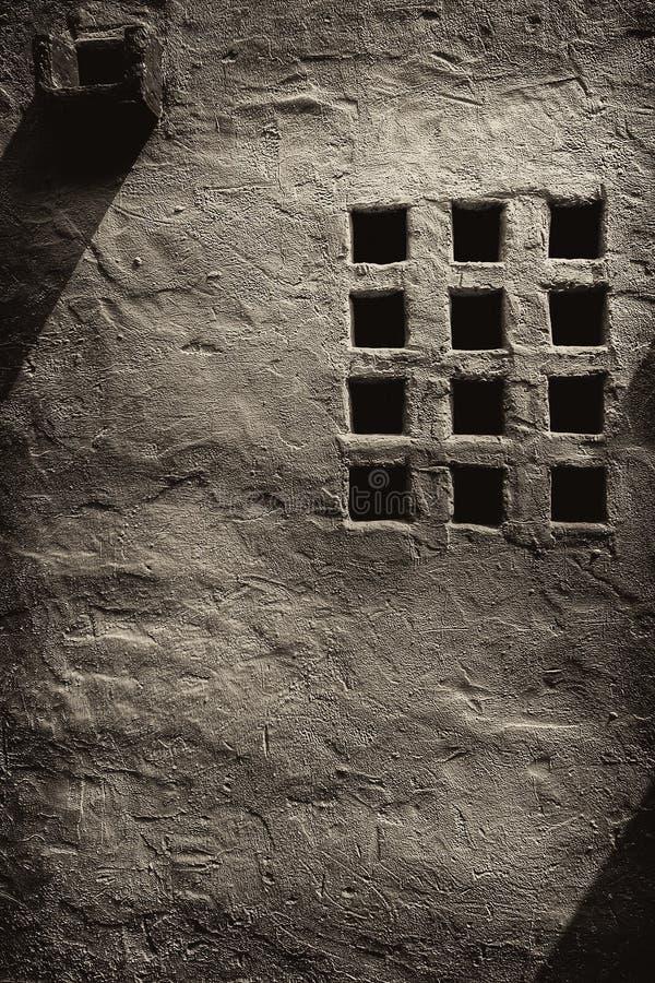 Gril de fenêtre de style et bec d'eau espagnols images libres de droits