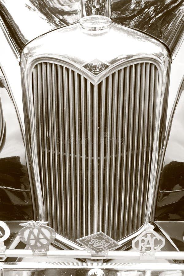 Gril de radiateur traditionnel de Riley de vintage image stock