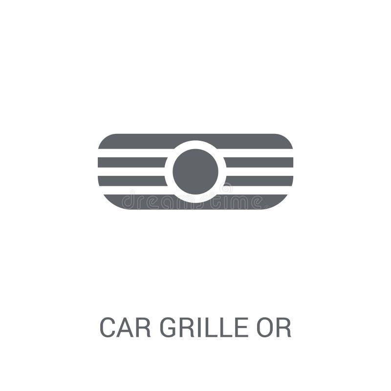 gril de voiture ou icône de gril de radiateur  illustration libre de droits