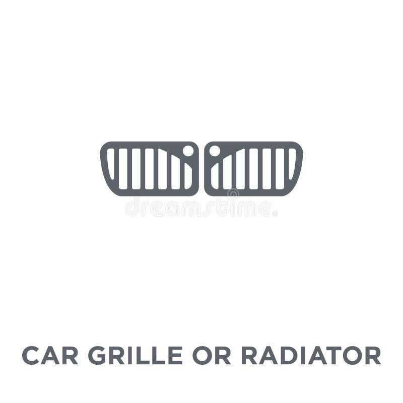 gril de voiture ou icône de gril de radiateur de collection de pièces de voiture illustration libre de droits