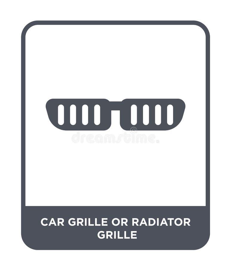 gril de voiture ou icône de gril de radiateur dans le style à la mode de conception gril de voiture ou icône de gril de radiateur illustration de vecteur