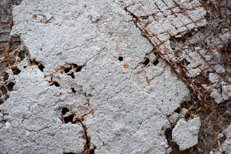 Gril renforcé en métal avec la corrosion images stock