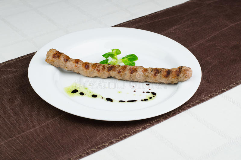 Grillé hachez la viande images libres de droits