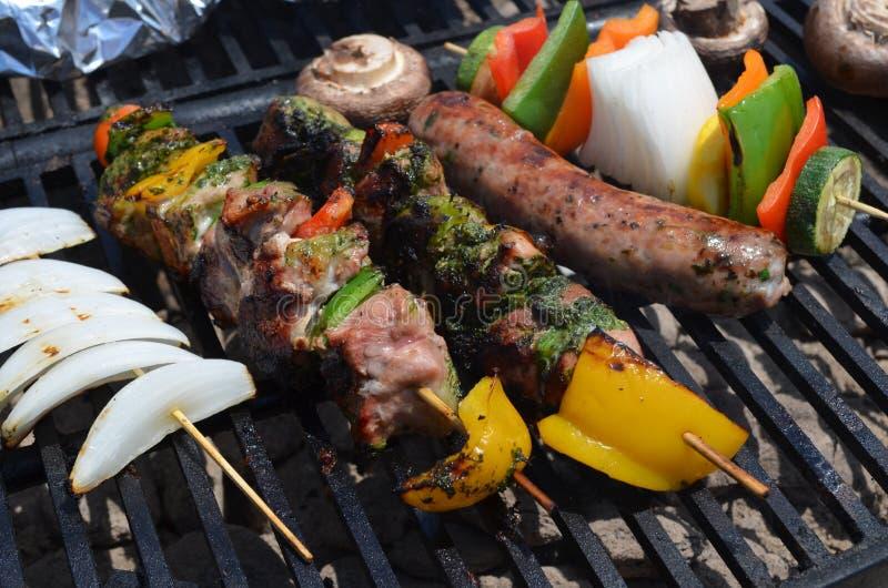 Grillów kebaby zdjęcie stock