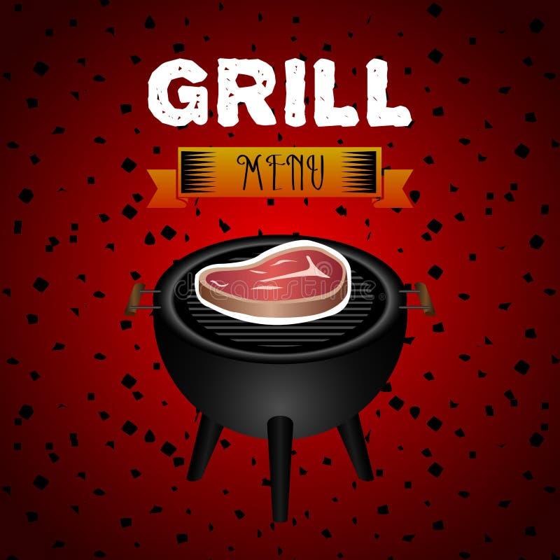 grill ilustracji