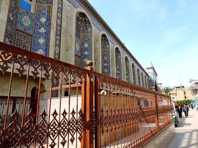 Grill außerhalb des heiligen Schreins von Husayn Ibn Ali, Kerbela, der Irak lizenzfreie stockfotografie