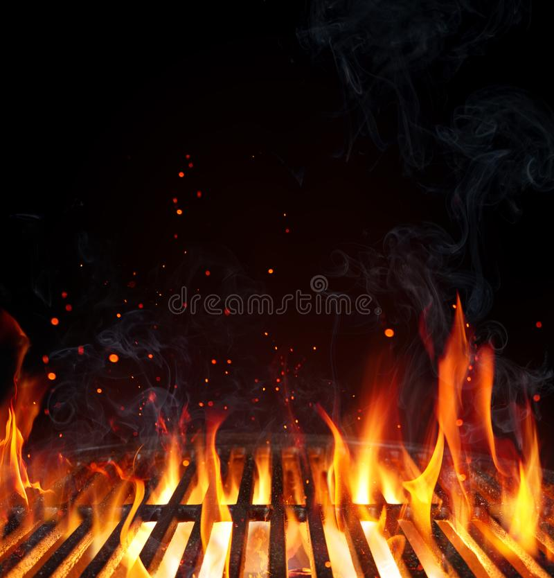 Free Grill Background - Empty Fired Barbecue Royalty Free Stock Photo - 116201635