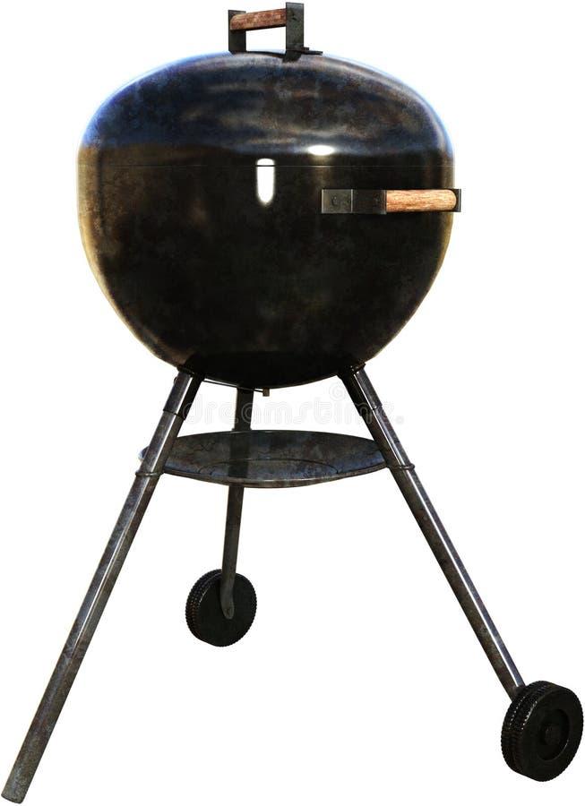 Grill, BBQ grill, Cookout, Odizolowywający obrazy stock