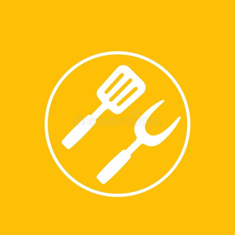 Grill, bbq ikona ilustracji