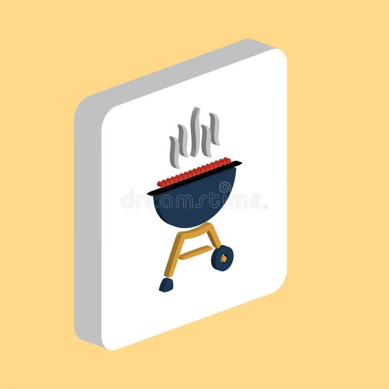 Grill, BBQ komputeru symbol ilustracja wektor