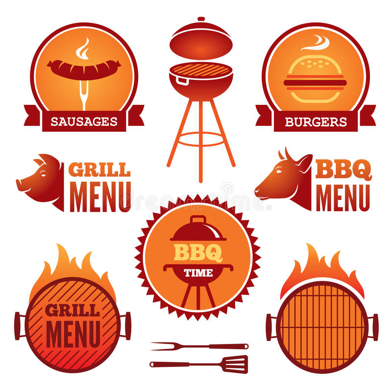 Grill and BBQ vector illustration
