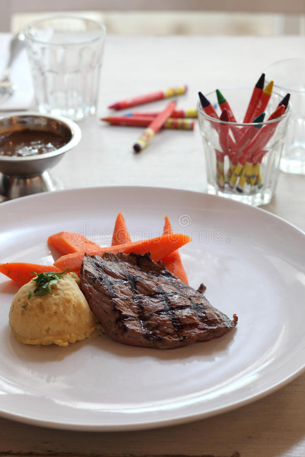 Download Grill Beef Steak stock image. Image of healthy, table - 16187615