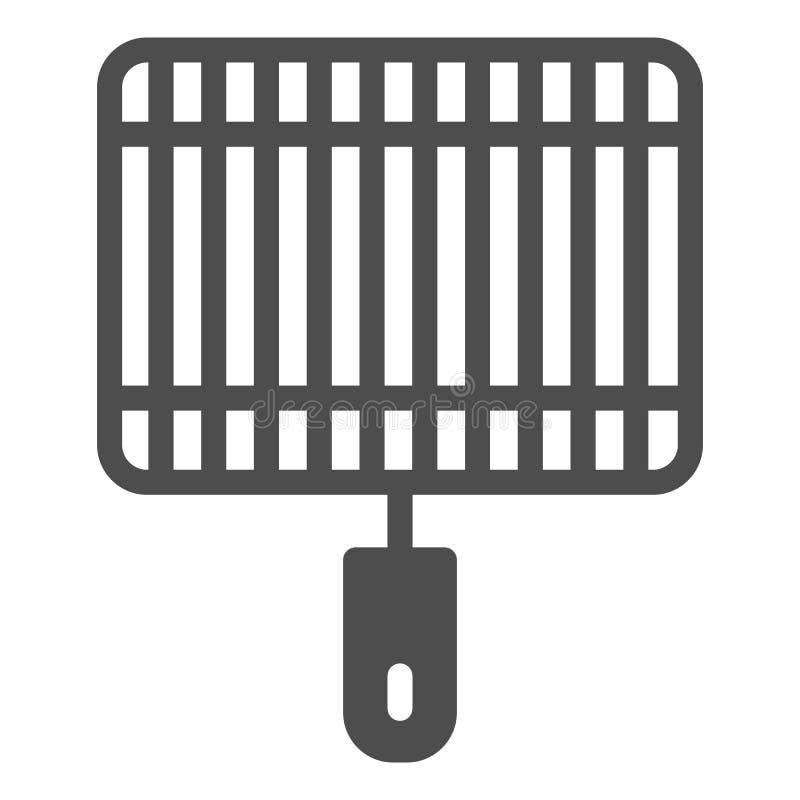Grill bryły ikona Grill wektorowa ilustracja odizolowywająca na bielu Fryer glifu stylu projekt, projektujący dla sieci i app royalty ilustracja