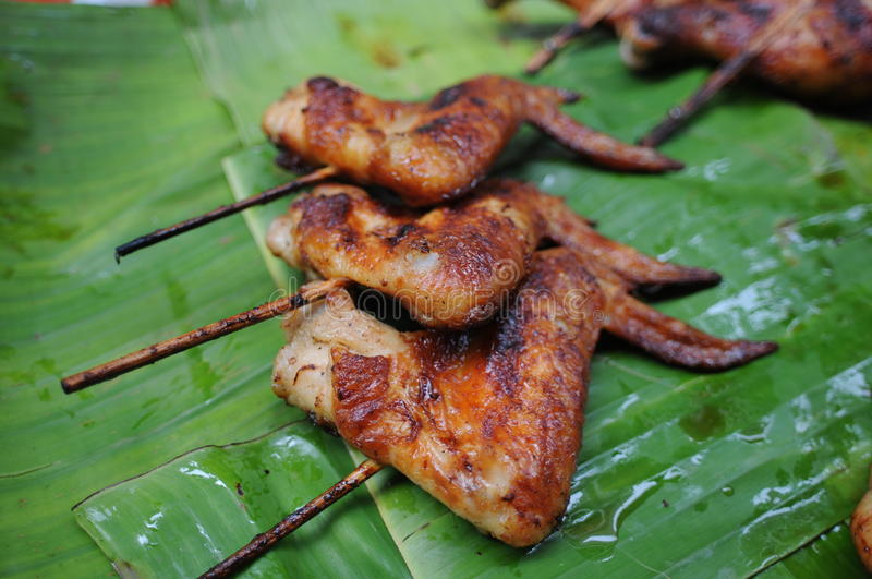Download Grill chicken stock photo. Image of appetizing, leaf - 16188234