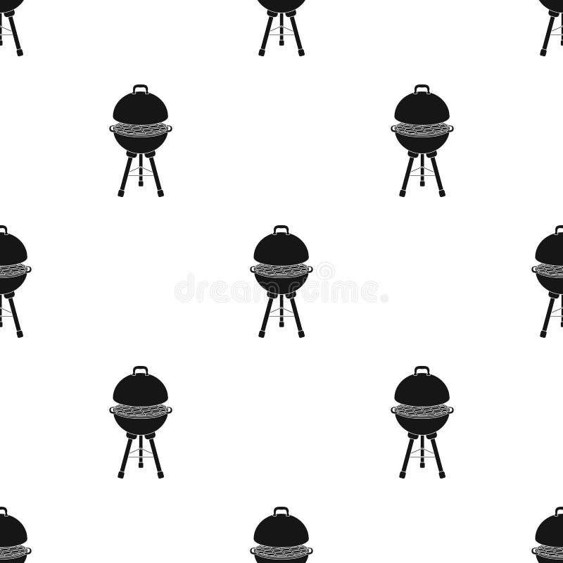 Grill dla grilla BBQ pojedyncza ikona w czerń stylu symbolu zapasu ilustraci wektorowej sieci royalty ilustracja