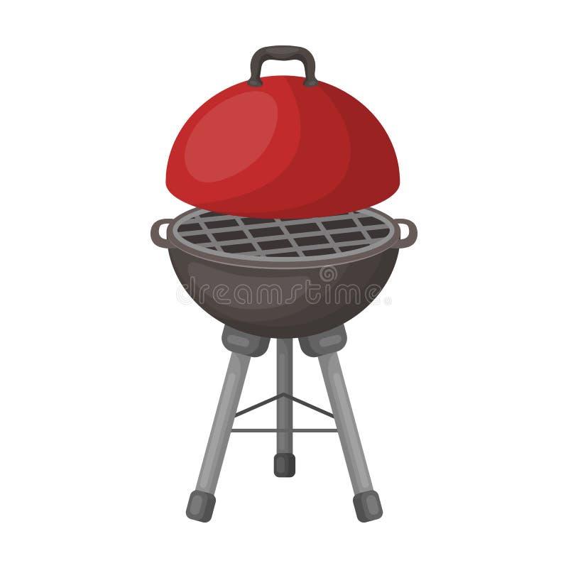 Grill dla grilla BBQ pojedyncza ikona w kreskówka stylu rater, bitmap symbolu zapasu ilustraci sieć ilustracji
