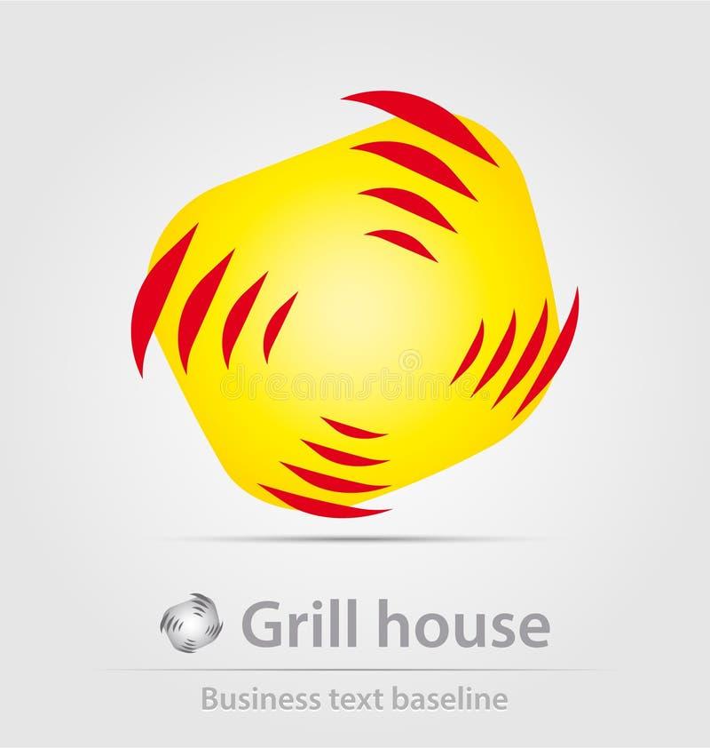 Grill domowa biznesowa ikona ilustracja wektor