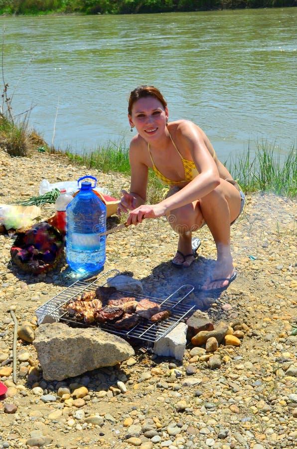 grill dziewczyna zdjęcia royalty free
