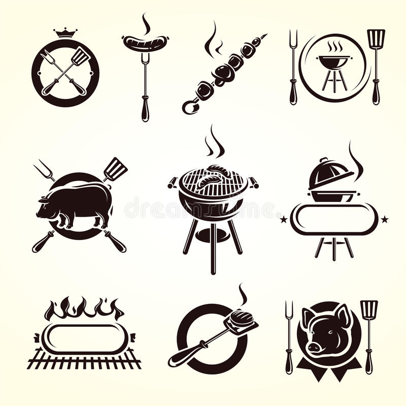Download Grill elements set. Vector stock vector. Illustration of label - 32517764