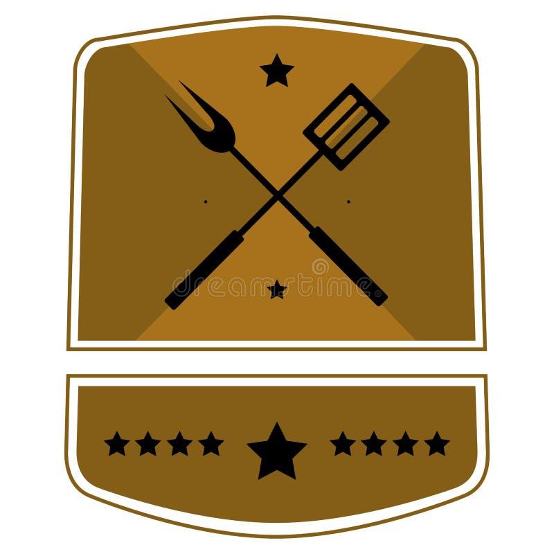 Grill etykietka royalty ilustracja
