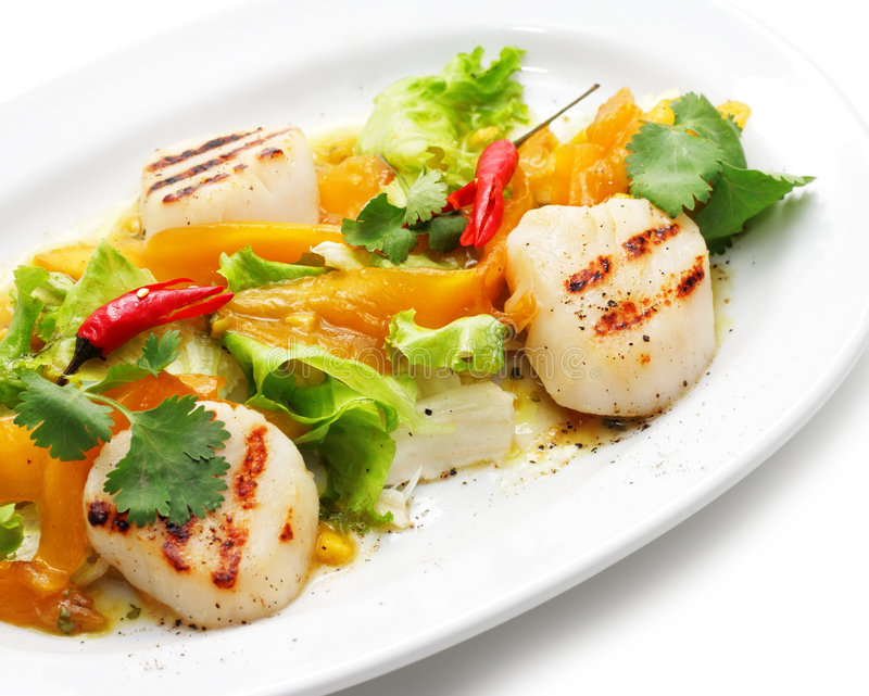 Download Grill Fish with Vegetables stock photo. Image of eating - 7989006