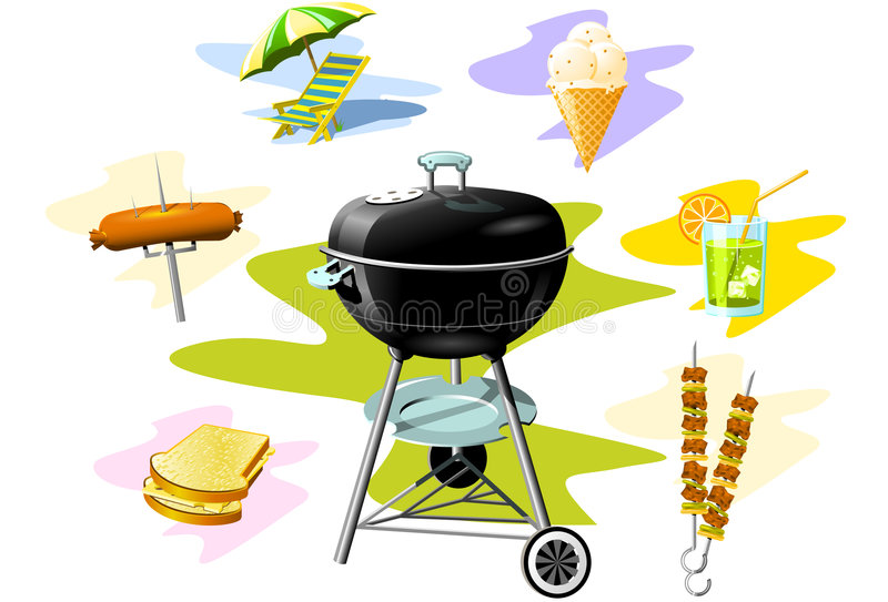 Grill-Grill stock abbildung