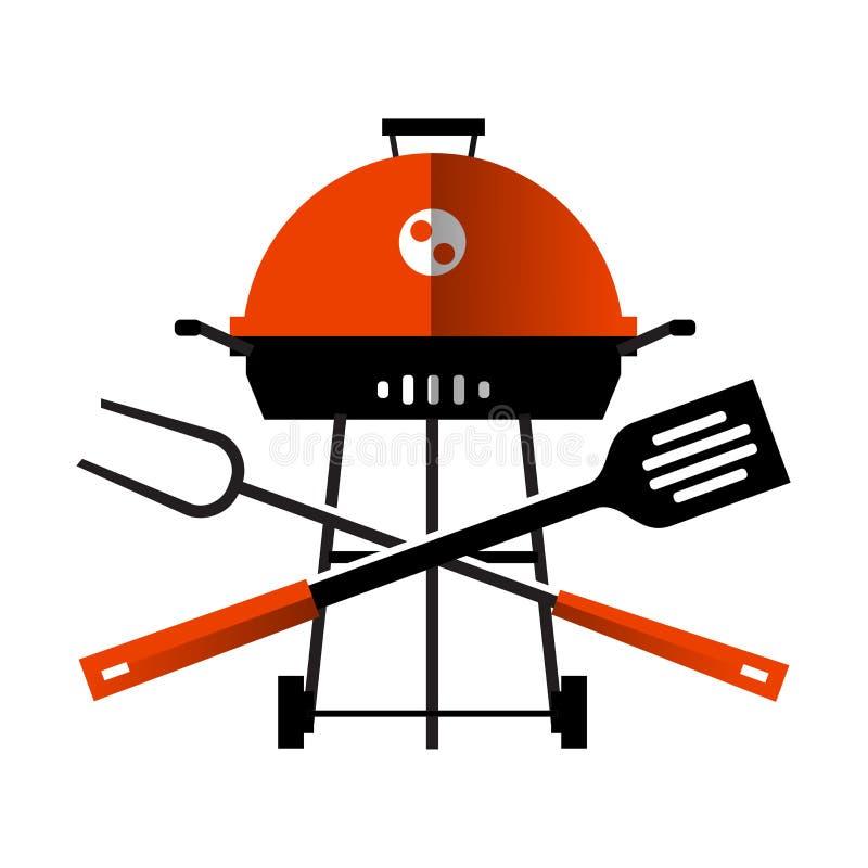 Grill, grill, grill naczynia dla BBQ dalej ilustracji