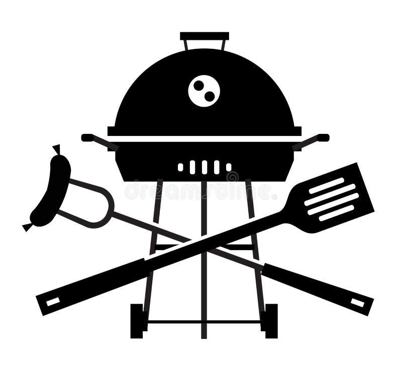 Grill, grill, grill, pinkin naczynia dla ilustracji