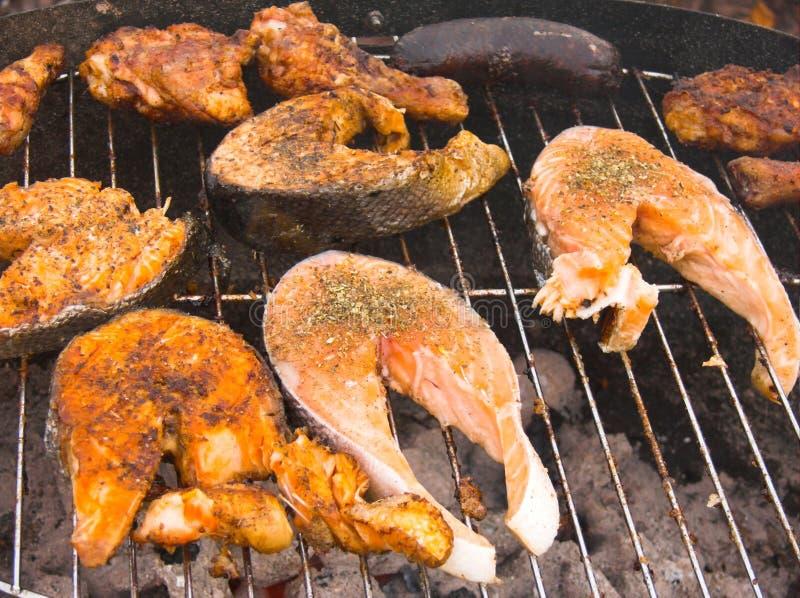 grill grilla zdjęcie stock