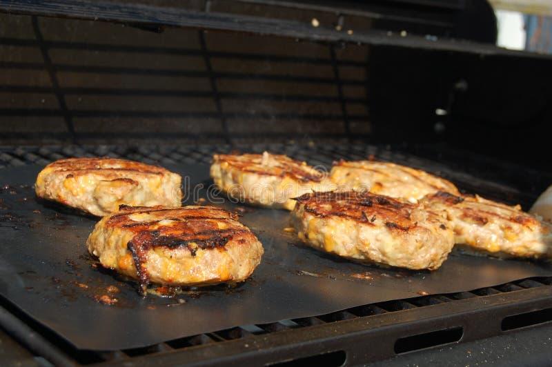 grill hamburgare royaltyfria foton