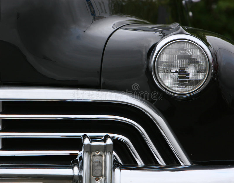 Grill and headlights stock photos