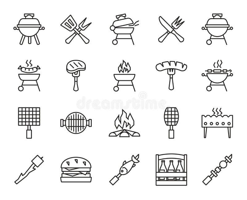 Grill i grill ilustracji