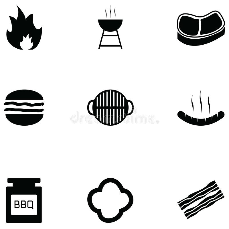 Grill icon set. The grill of icon set vector illustration