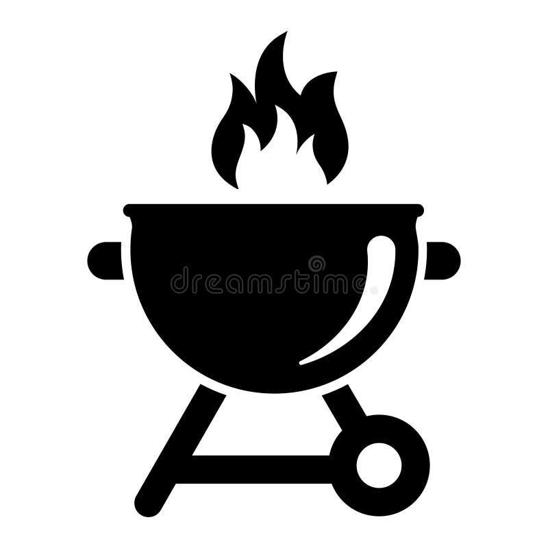 Grill Icon Vector. bbq Illustration symbol. barbecue logo. For web or mobile. Grill Icon Vector. bbq Illustration symbol. barbecue logo. For web stock illustration