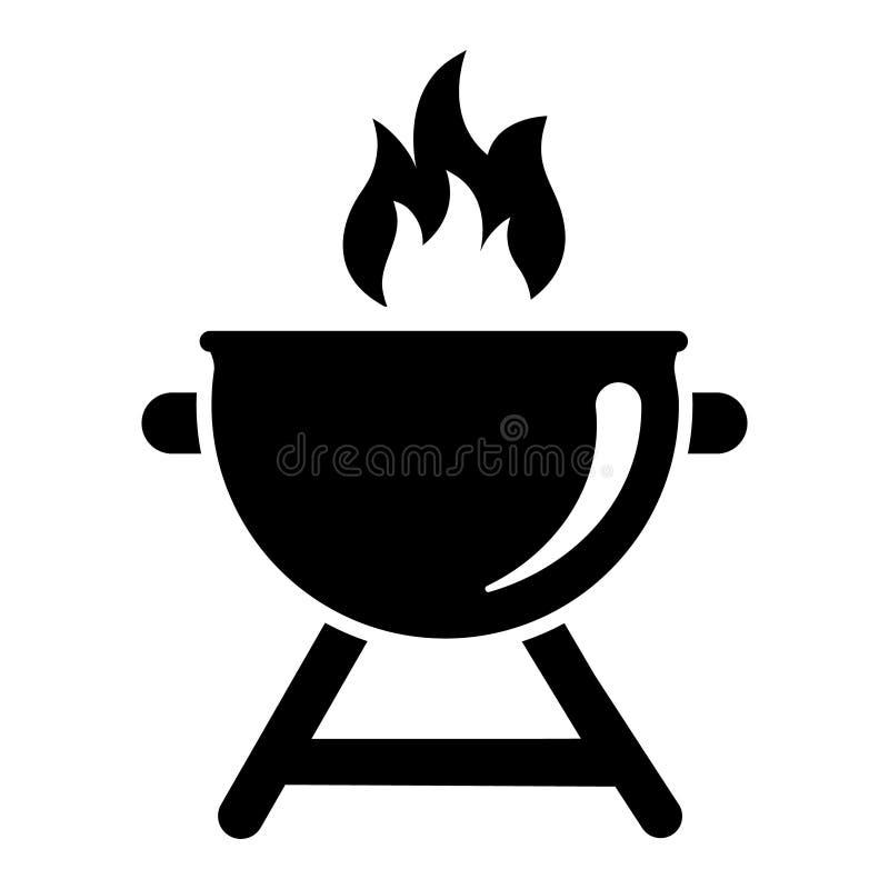 Grill Icon Vector. bbq Illustration symbol. barbecue logo. For web or mobile.  vector illustration