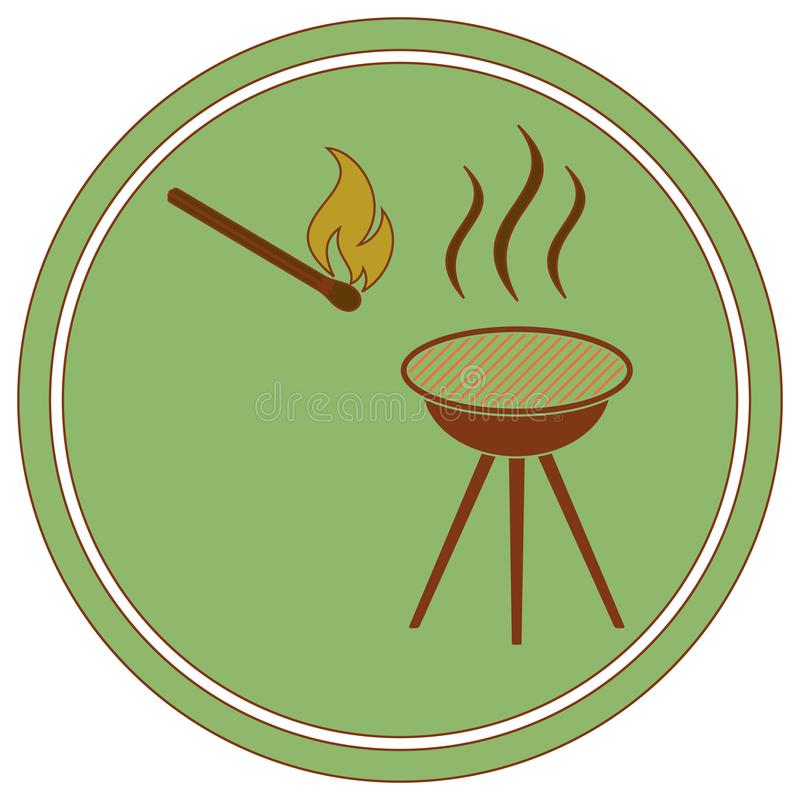 Grill ikona ilustracji
