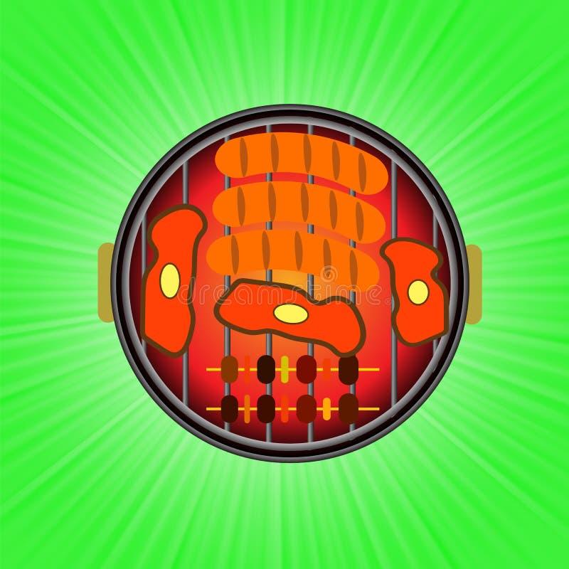 Grill ikona ilustracja wektor