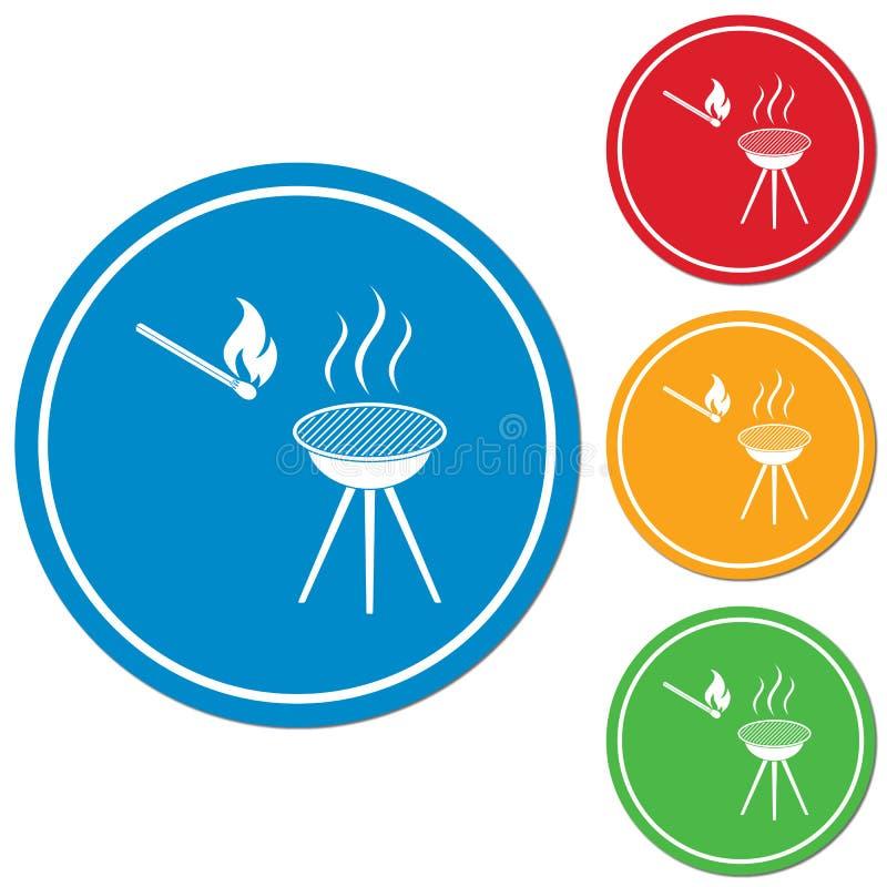 Grill ikona royalty ilustracja