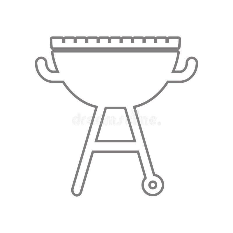 Grill ikona Element sie? dla mobilnego poj?cia i sieci apps ikony Kontur, cienka kreskowa ikona dla strona internetowa projekta i ilustracja wektor