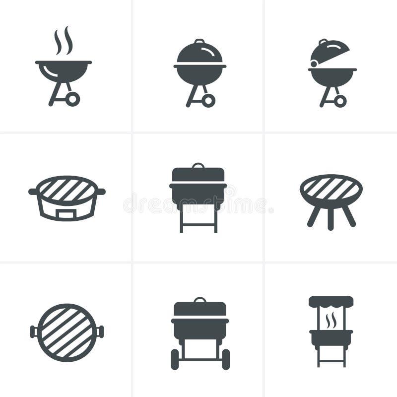 Grill ikona Grilla symbol royalty ilustracja