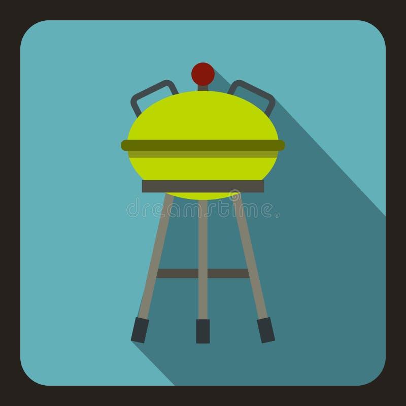 Grill ikona, mieszkanie styl ilustracji