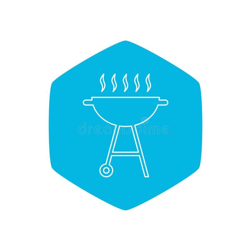 Grill ikona, Prosta ilustracja grill ikona dla sieci royalty ilustracja