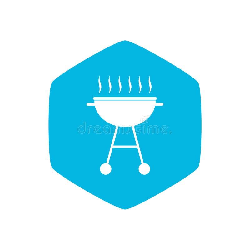 Grill ikona, Prosta ilustracja grill ikona dla sieci ilustracja wektor