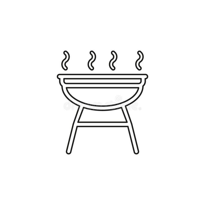 Grill ikona pykniczny symbol - wektorowy grilla przyj?cie - ilustracji