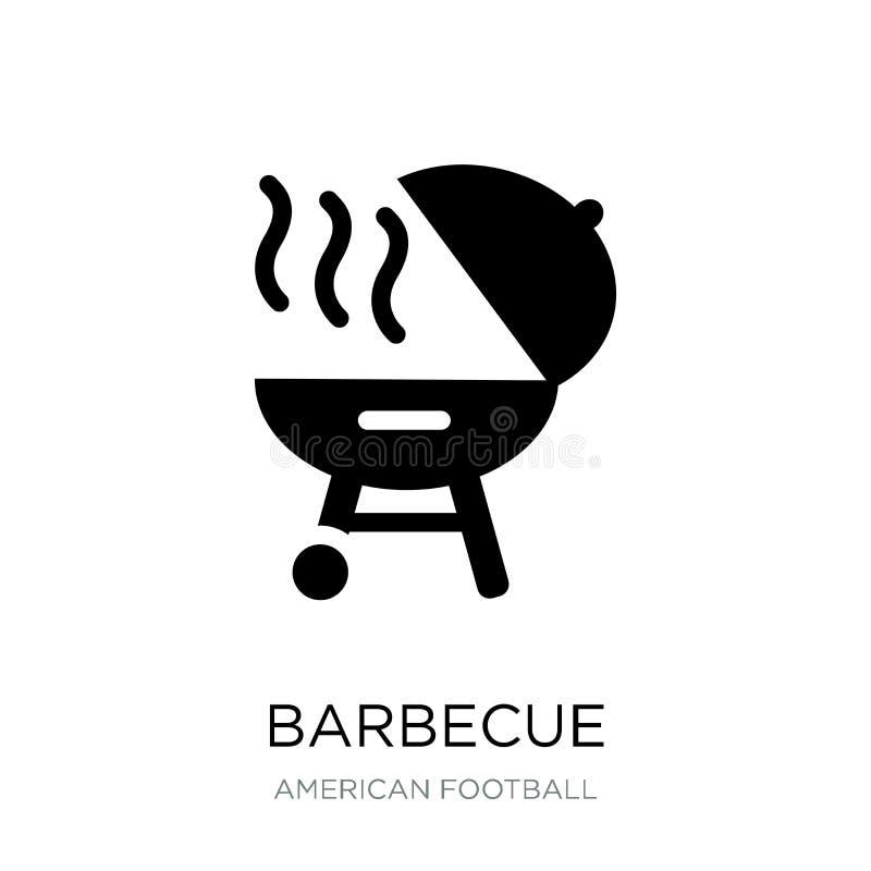 grill ikona w modnym projekta stylu Grill ikona odizolowywająca na białym tle grill wektorowej ikony prosty i nowożytny mieszkani ilustracja wektor